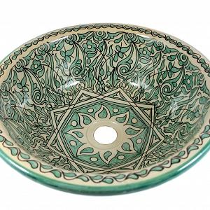 marokkanische keramikwaschbecken. Black Bedroom Furniture Sets. Home Design Ideas