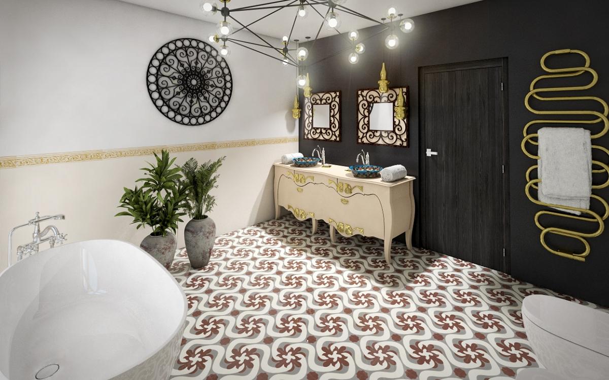 franz sische zement bodenfliesen alfredo. Black Bedroom Furniture Sets. Home Design Ideas