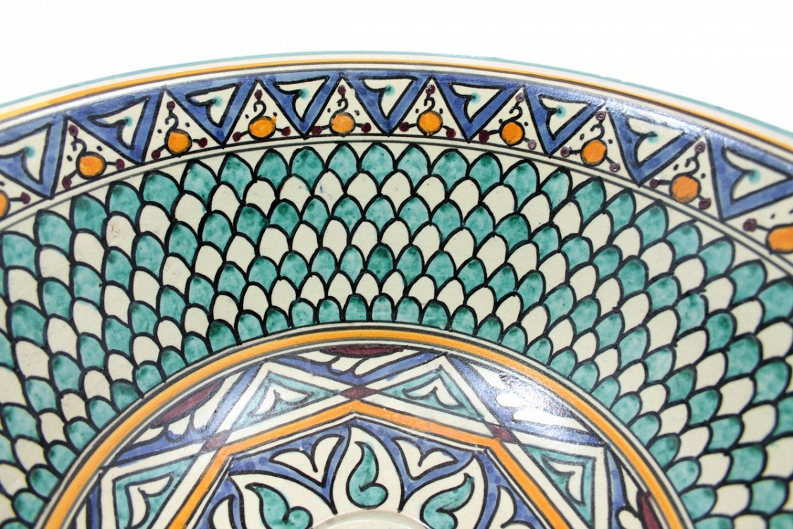 taza bunte keramik waschbecken. Black Bedroom Furniture Sets. Home Design Ideas