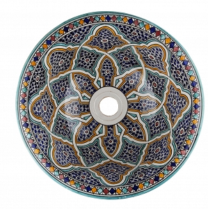 ramila keramik waschbecken mit marokko farben von marokko marokkanische waschbecken. Black Bedroom Furniture Sets. Home Design Ideas