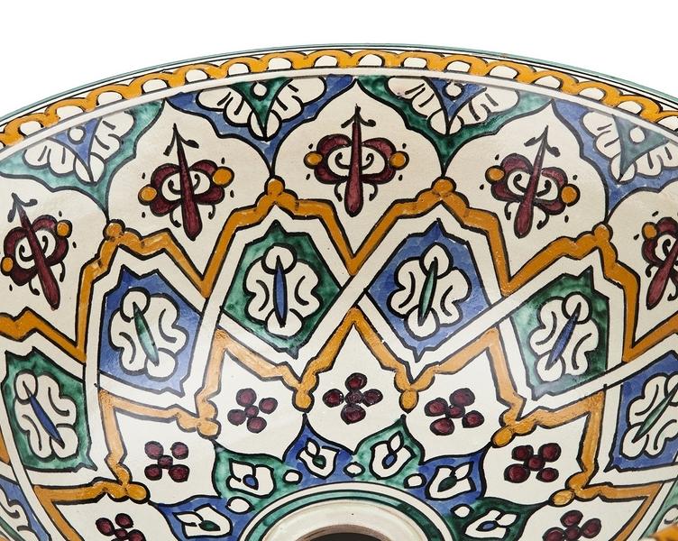 Binya Bunte Keramik Waschbecken