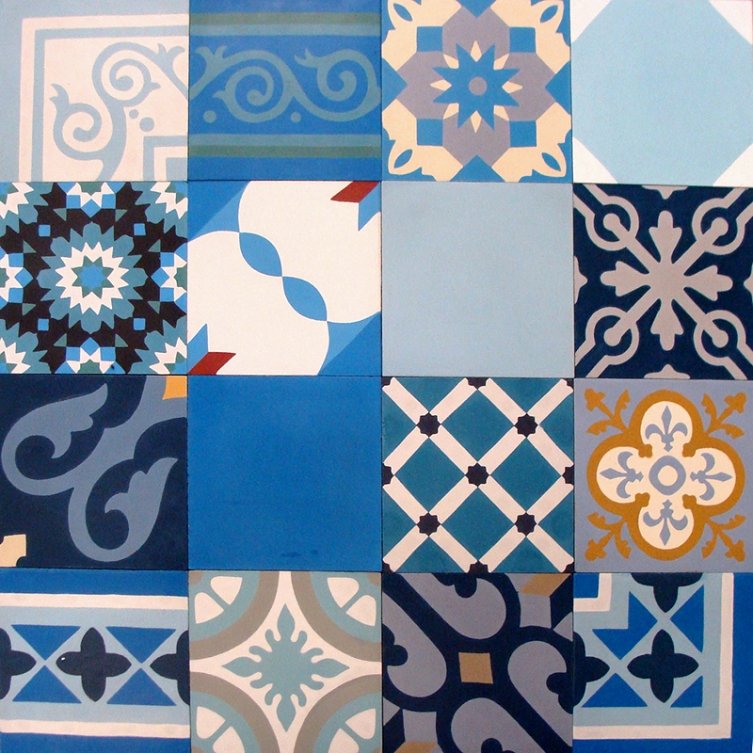 Zementfliesen Patchwork zement bodenfliesen patchwork