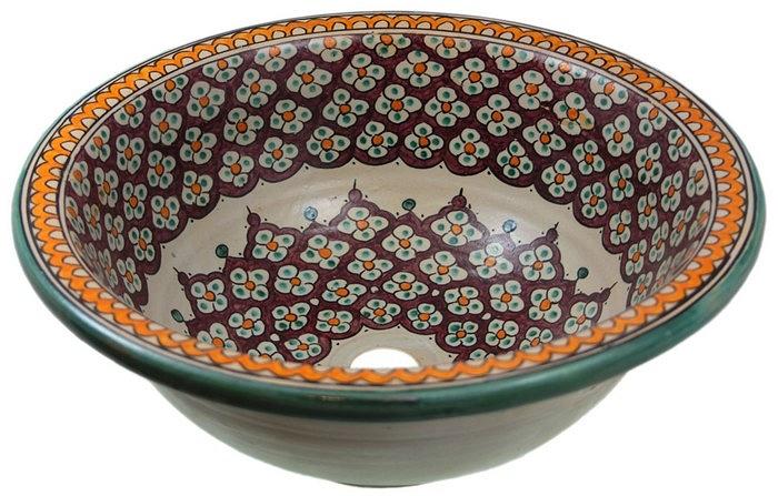 borat bunte handbemalte marokkanische waschbecken. Black Bedroom Furniture Sets. Home Design Ideas